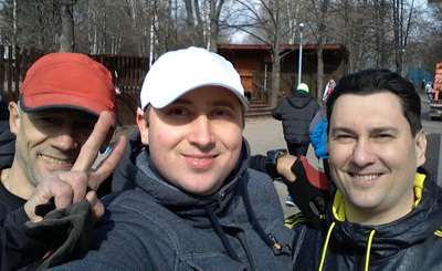 Участники моего  тренинга  Алексей и Олег.