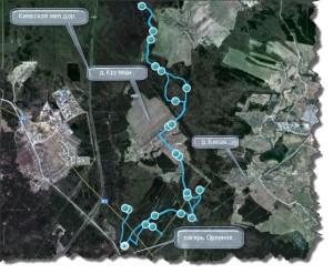 Карта и трек тренировки