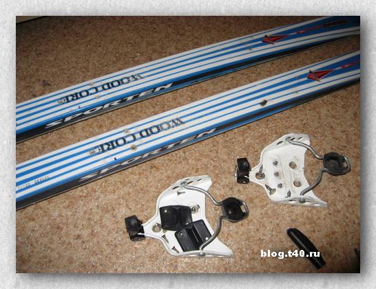 Снимаем старые лыжные крепления.