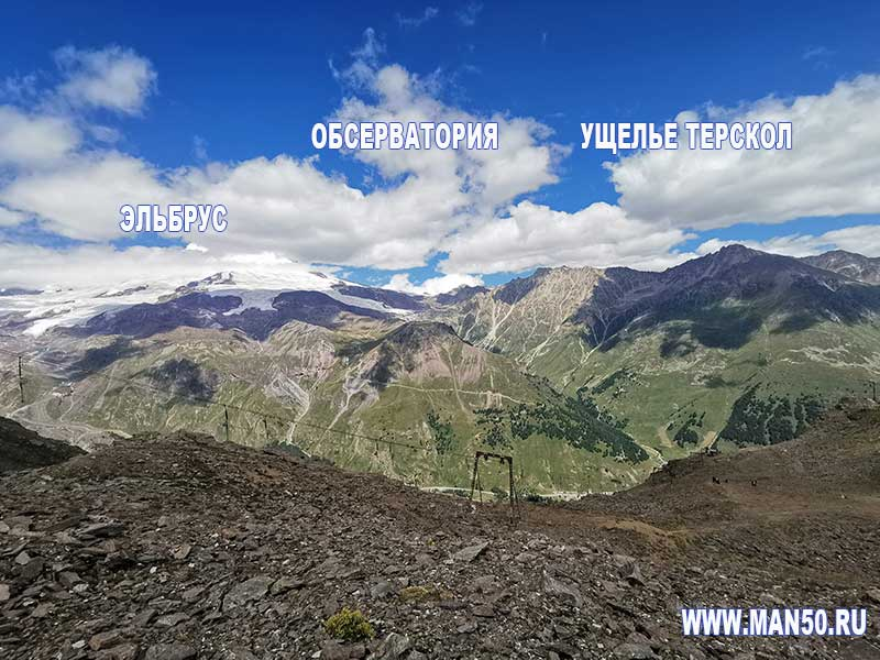 Вид на Эльбрус с Чегета